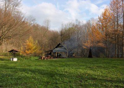 Baza namiotowa w Wisłoczku poza sezonem