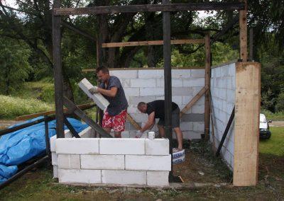 Budowa sauny w Zyndranowej